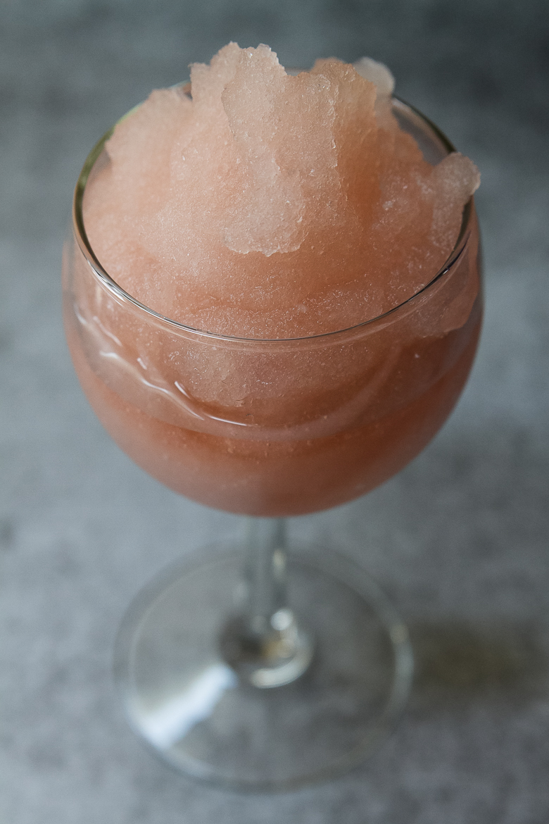 rose' snow cones, snow cones for adults, treats made with wine,  wine recipes,
